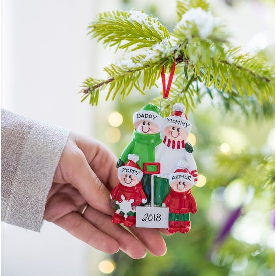 Personalised Family Christmas Decoration