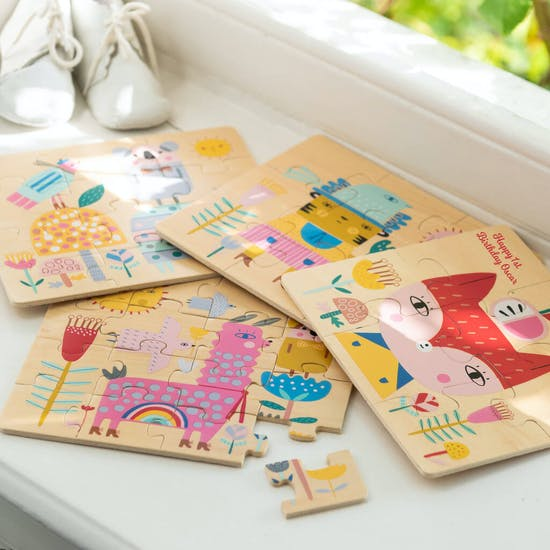 Personalised Set Of Four Children's Puzzle