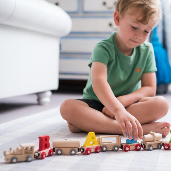 Wooden Freight  Name Train