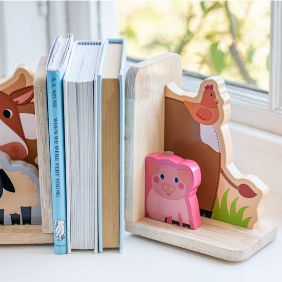 Personalised Farm Animal Bookends
