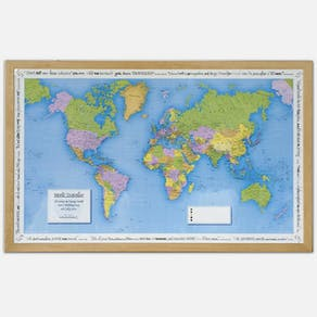 Personalised Framed Places We Have Been Push Pin Map