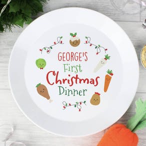 Personalised First Christmas Dinner Plate