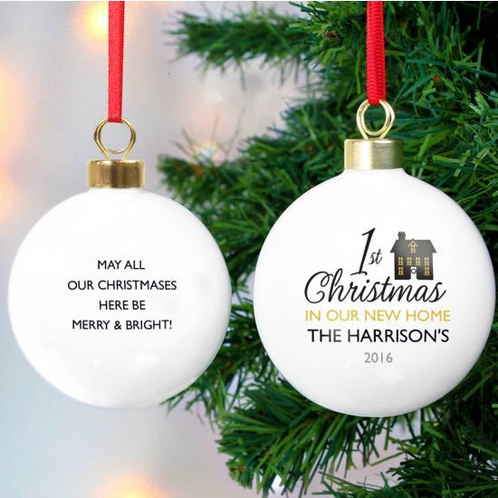 Personalised New Home Christmas Bauble