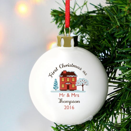 Personalised Cosy New Home Bauble