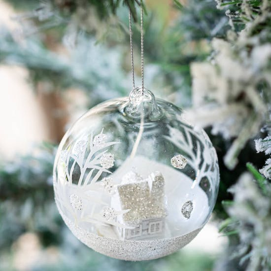 Personalised Frosty Glass Home Bauble