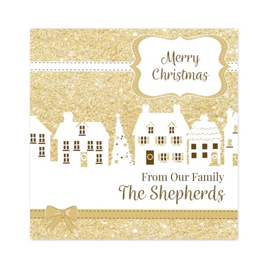 Festive Village Pack Of 20 Christmas Cards