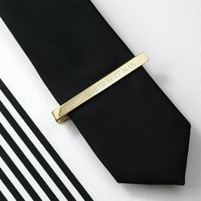 Personalised Gold Plated Tie Clip