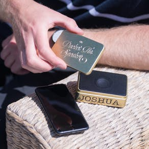Personalised Gold Wifi Pocket Speaker
