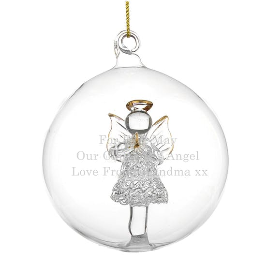 Personalised Glass Christmas Bauble