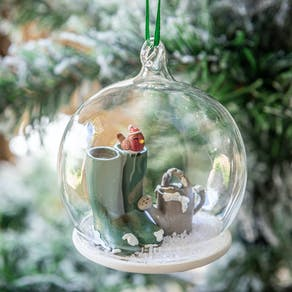 Personalised Glass Gardener's Christmas Bauble