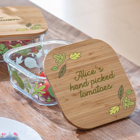 Personalised Glass Storage Container