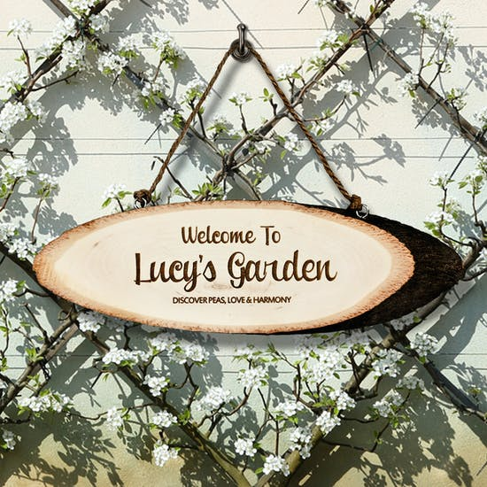 Personalised 'Garden' Wooden Sign