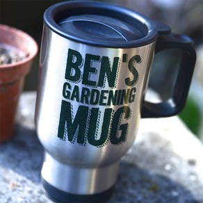 Personalised Gardening Travel Mug