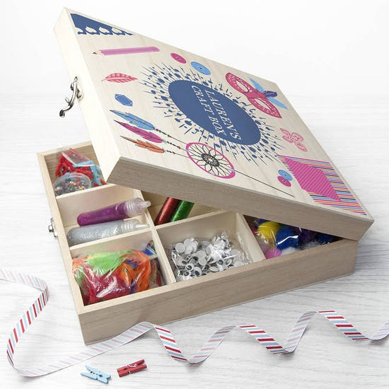 Wooden Personalised Craft Box