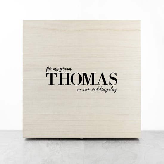 Personalised Groom Wedding Day Box