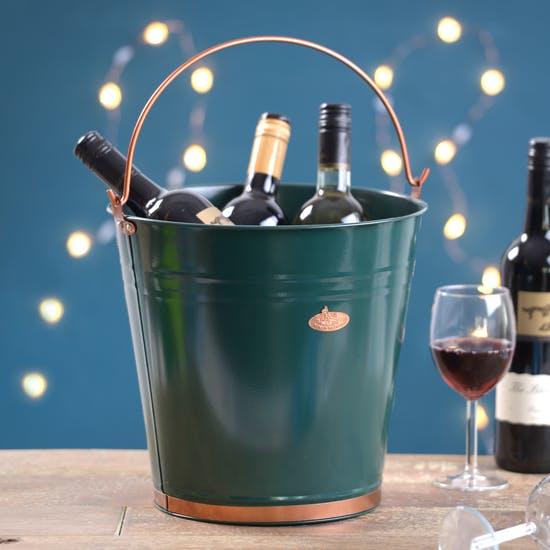 Personalised Green And Copper Bucket