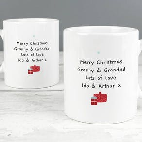 Personalised Grandparent Christmas Mug Set