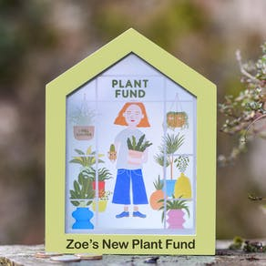 Personalised Greenhouse Plant Fund Money Box