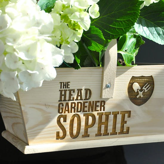 Personalised 'Head Gardener' Trug