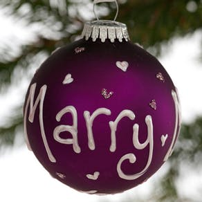 Personalised Handpainted Wedding Bauble