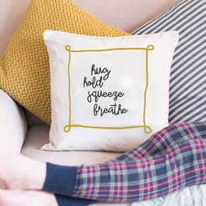 Personalised Hand Written Quote Cushion