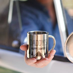 Personalised Happy Camping Travel Mug