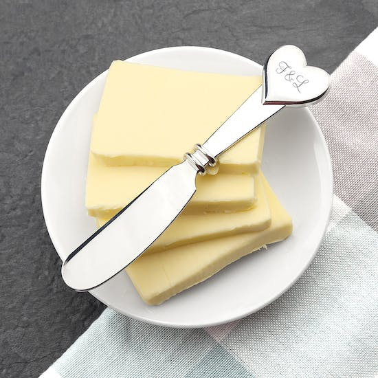 Personalised Heart Butter Knife