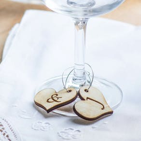 Personalised Heart Monogram Glass Charms
