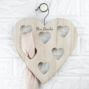Personalised Heart Scarf Holder