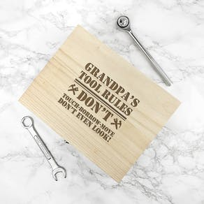 Personalised 'His Tools His Rules' Tool Box