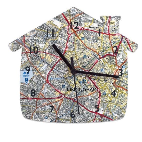 Personalised House Shaped Clock