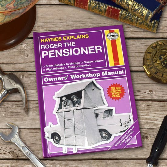 Personalised Haynes Manual for Pensioners