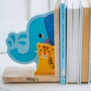 Personalised Jungle Animal Bookends