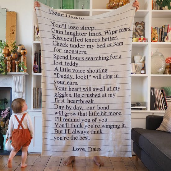 Personalised Knitted Letter Blanket