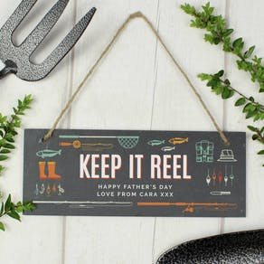 Personalised Keep it Reel Slate Sign