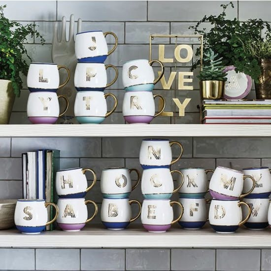 Personalised Library Monogram Mug