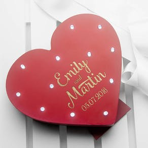Personalised Light up Heart