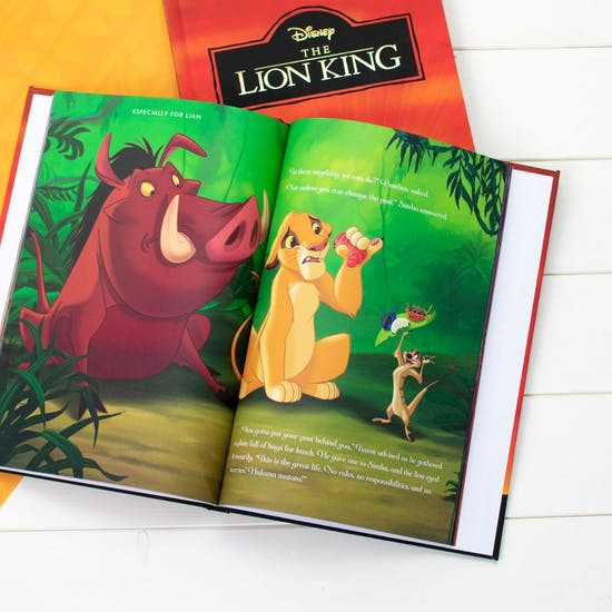 Personalised Lion King Gift Book And Toy