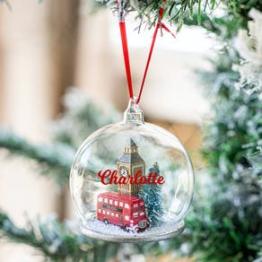 Personalised London Scene Dome Bauble