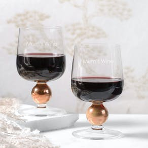 Personalised Set Of  Two LSA Wine Glasses