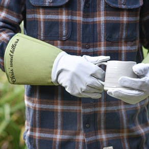 Personalised Leather Garden Gloves