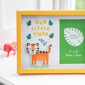 Personalised Our Little Lion Cub Frame