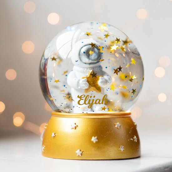 Personalised Little Space Man Snow Globe