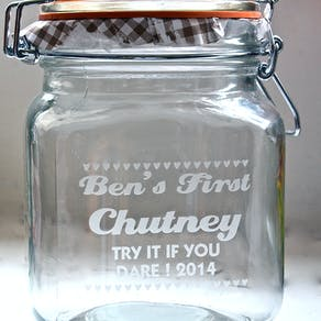 Personalised Love Hearts Kilner Jar