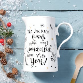 Personalised Luxury Christmas Jug