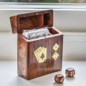 Personalised Luxury Card And Dice Box