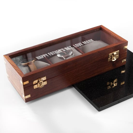 Personalised Luxury Wooden Watch Box