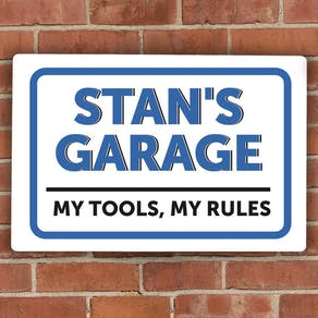 Personalised 'Man Garage' Metal Sign