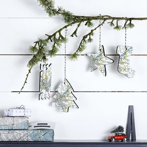 Folded Paper Book Hanging Decoration