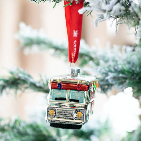 Personalised Mobile Home Shaped Bauble
